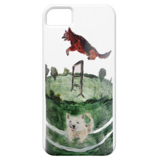 Dog Agility Painting iPhone 5 Cover
