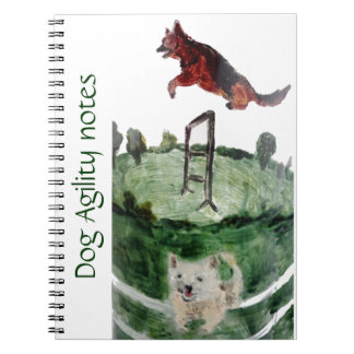 Dog Agility Painting Notebook