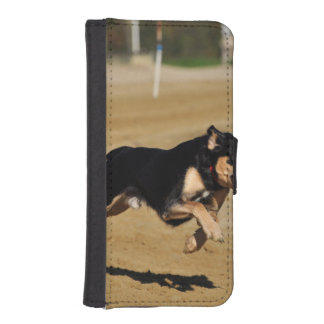 dog agility practicing phone wallet