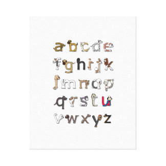 Dog Alphabet Canvas Print