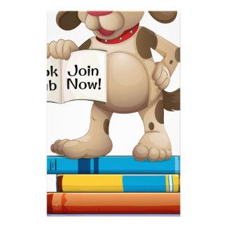 Dog and books stationery