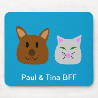 Dog and Cat Best Friend Mousepad