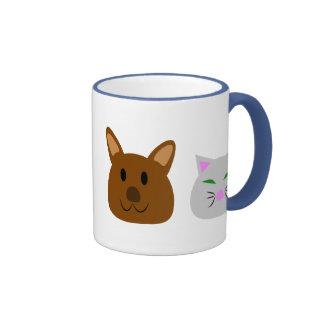 Dog and Cat Best Friend Ringer Mug