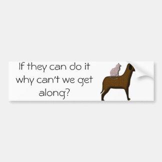 dog-and-cat bumper sticker