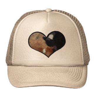 Dog and Cat Embrace in a Heart Shaped Yin Yang Cap