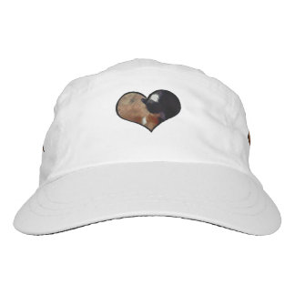Dog and Cat Embrace in a Heart Shaped Yin Yang Hat
