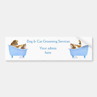 Dog and Cat Grooming Service Bumper Sticker