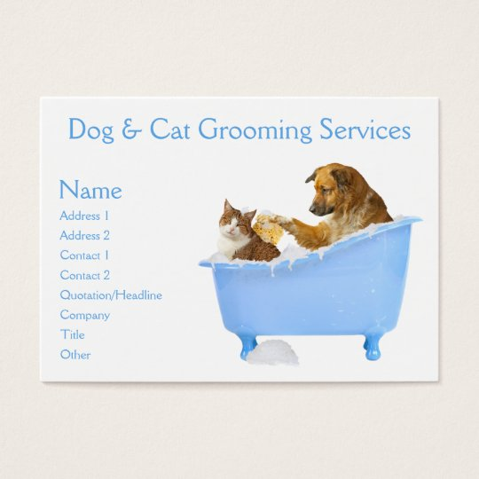 Dog and Cat Grooming Service Business Card
