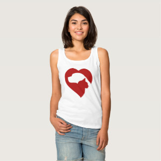 dog and cat heart tank top