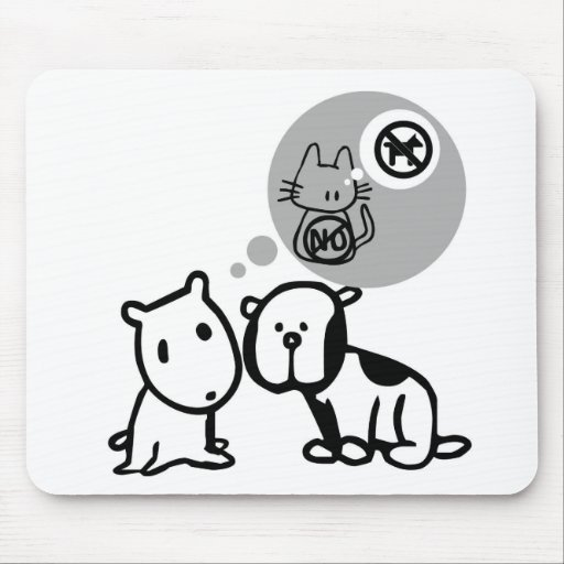 DOG AND CAT THOUGHT PROCESSES MOUSE PADS