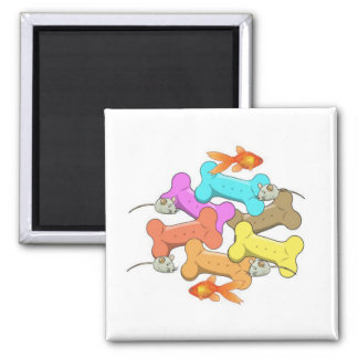Dog and Cat Treats Square Magnet