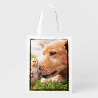 Dog and Chick Reusable Grocery Bag