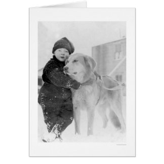 Dog and Child Nome Alaska 1926 Greeting Card