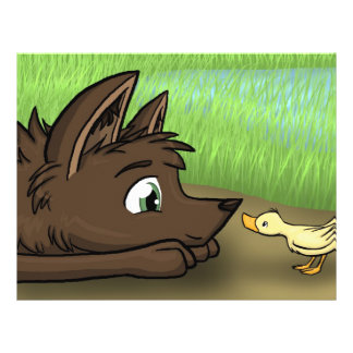 Dog and Duck Personalized Flyer