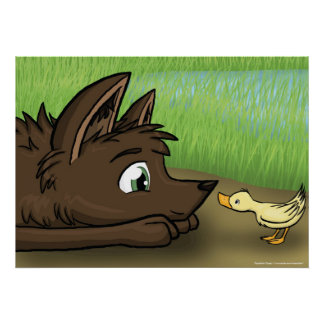 Dog and Duck Poster