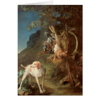 Dog and Game, 1730 Card
