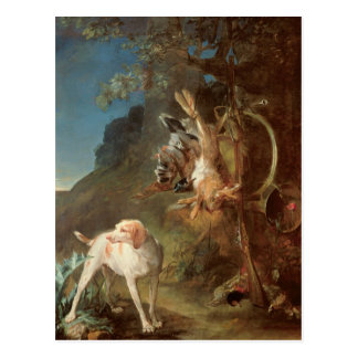 Dog and Game, 1730 Postcard