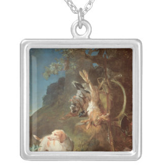 Dog and Game, 1730 Silver Plated Necklace