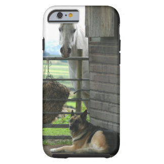 Dog and horse at ranch in Menton, France Tough iPhone 6 Case