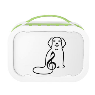 DOG AND MUSIC NOTE LUNCH BOX