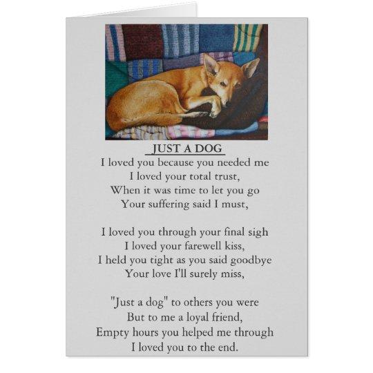dog and pet sympathy original poem card