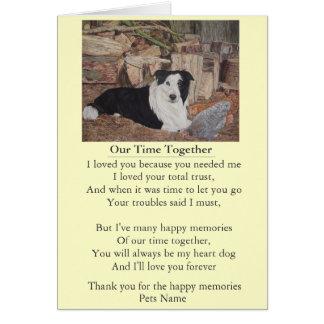 dog and pet sympathy poem original customizable greeting card