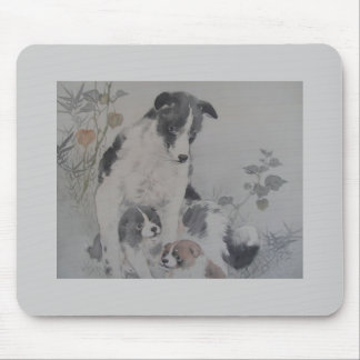 Dog and Puppies Mousemats