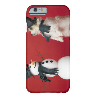 Dog and Snowman Barely There iPhone 6 Case