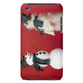 Dog and Snowman iPod Case-Mate Case