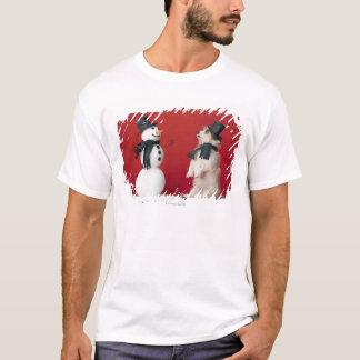 Dog and Snowman T-Shirt