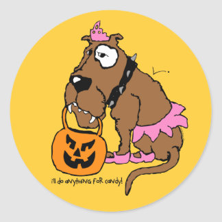 Dog Anything For Candy Stickers