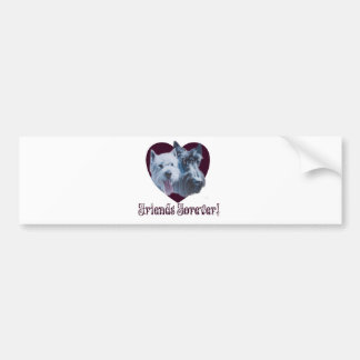 Dog Art:  Friends Forever! Bumper Sticker