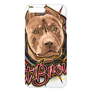 dog art radical pit bull brown and red iPhone 7 plus case
