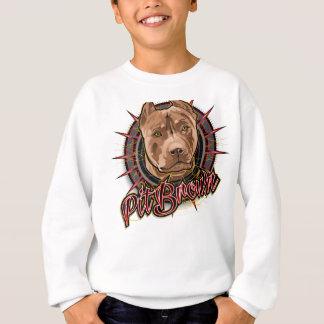 dog art radical pit bull brown and red sweatshirt