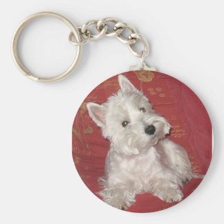 Dog Art: the Westie Key Ring