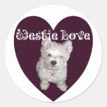 Dog Art: Westie Love Sticker