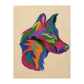 Dog art wood canvases