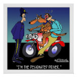 Dog As Designated Driver Poster