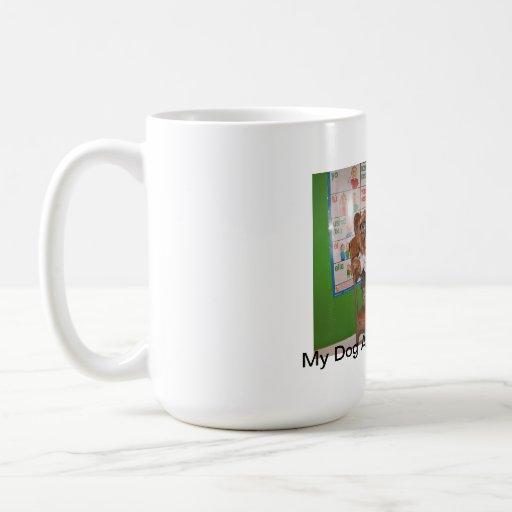 Dog Ate My Homework Cup Terrier Funny Coffee Mugs