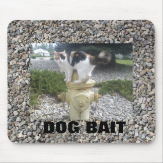 Dog Bait Cat on a Hydrant Mouse Pad