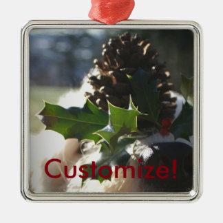 Dog Balancing Holly Christmas Ornament