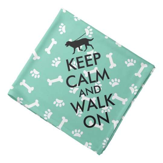 Dog Bandanna Keep Calm and Walk On Dog