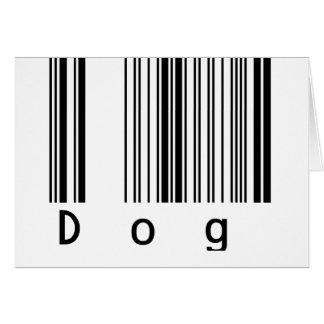Dog Barcode Greeting Card