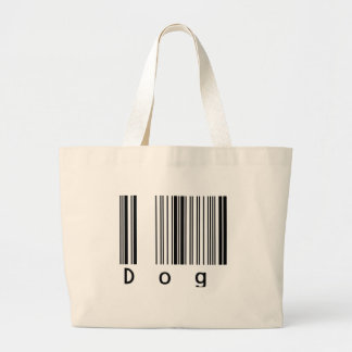 Dog Barcode Large Tote Bag