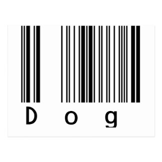 Dog Barcode Postcard