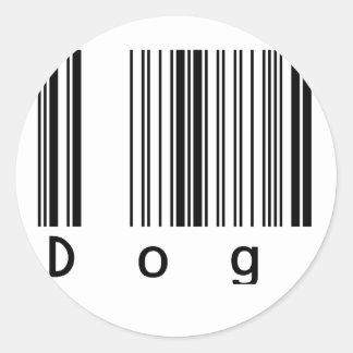 Dog Barcode Round Sticker
