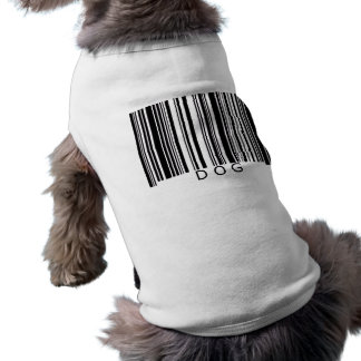 Dog Barcode Sleeveless Dog Shirt