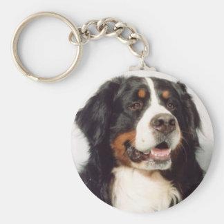 Dog Basic Round Button Key Ring
