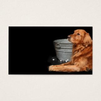 Dog bath business card