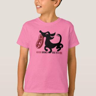 Dog BBQ T pink T-Shirt